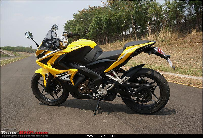 Report, Pics &amp; Video: Bajaj Pulsar RS200 ridden at the factory test-track-63pulsar.jpg <br /> &quot;Crystal&quot; LED tail-lamps extend beyond the body. Some might feel that the styling is overdone:<br /> <a href=