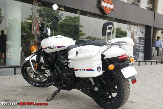 Name:  Customized HarleyDavidon Street 750 motorcycles for Gujrat Police Depar... 4.jpg