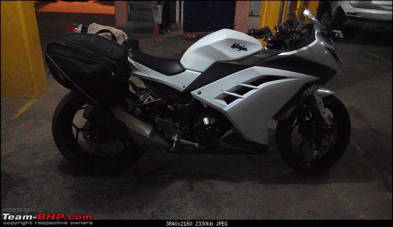 My Fair Lady : The Kawasaki Ninja 300 - Pearl Stardust White-img_20150726_210632.jpg