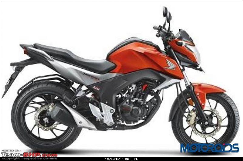 Honda gives CBR 150R, CBR 250R new colours, decals for 2015-hondacbhornet160rsideprofile.jpg