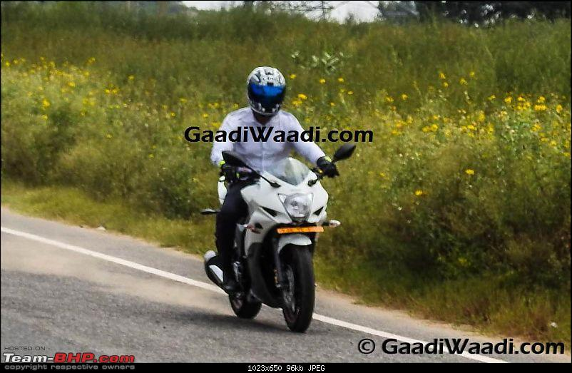Suzuki Gixxer, Gixxer SF with rear disc brake spotted on test. EDIT: Now launched-gx3.jpg