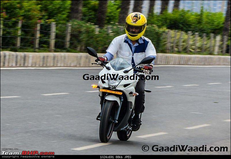 Suzuki Gixxer, Gixxer SF with rear disc brake spotted on test. EDIT: Now launched-gx5.jpg