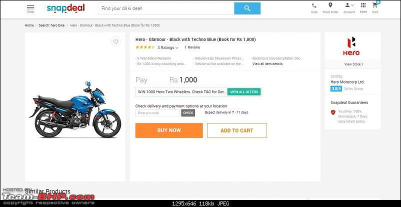 Hero MotoCorp sells 3 lakh units through Snapdeal, could launch online portal-snap3.jpg