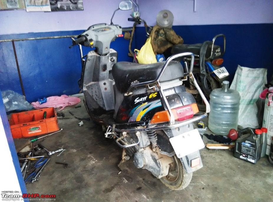 building a pocket bike out of a tvs scooty es team bhp rh team bhp com tvs scooty pep plus repair manual tvs scooty pep service manual pdf