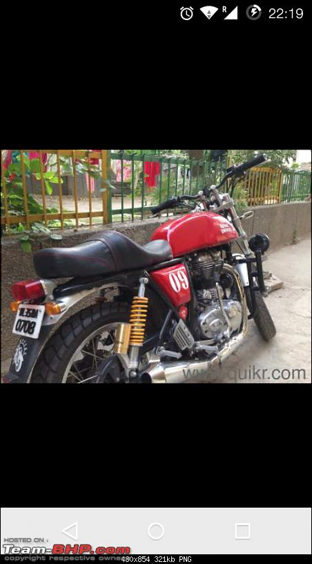 Royal Enfield Cafe Racer spotted testing. Edit: Now launched as Continental GT. Pg 10-screenshot_20151126221921.png
