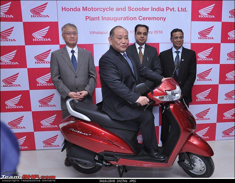Honda's 4th two-wheeler plant in India inaugurated - For automatic scooters at Gujarat-1.jpg