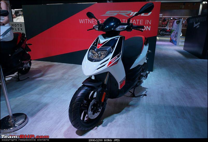 Aprilia SR 150 unveiled at the Auto Expo. EDIT: Priced at Rs. 65,000-1.jpg