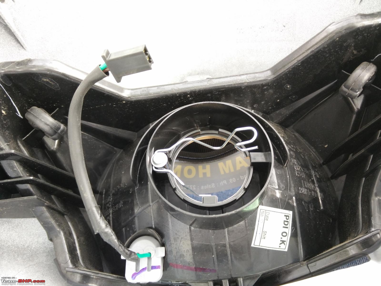 Honda Activa DIY: Headlight upgrade and LEDs for indicators + tail lamps-6.