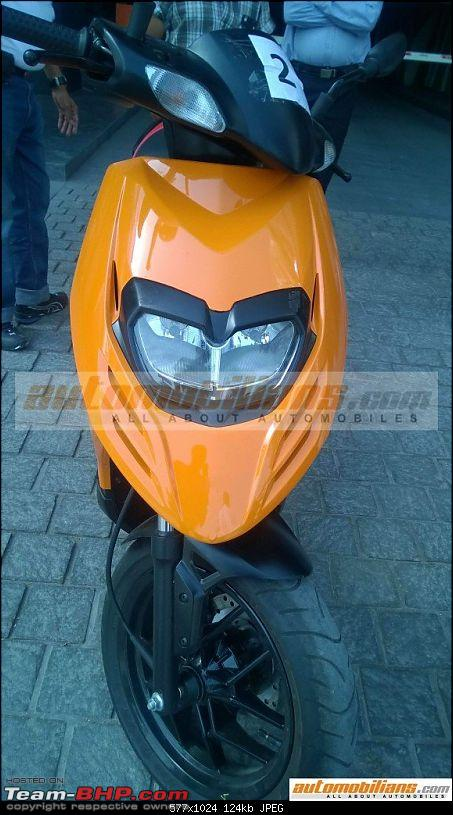 Aprilia SR 150 unveiled at the Auto Expo. EDIT: Priced at Rs. 65,000-7.jpg