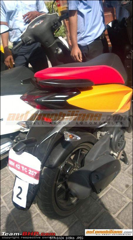 Aprilia SR 150 unveiled at the Auto Expo. EDIT: Priced at Rs. 65,000-8.jpg