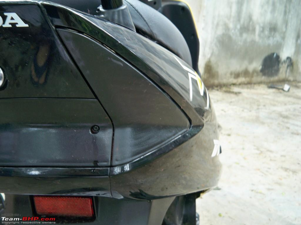 My honda dio my very own bumblebee now with carbon fiber