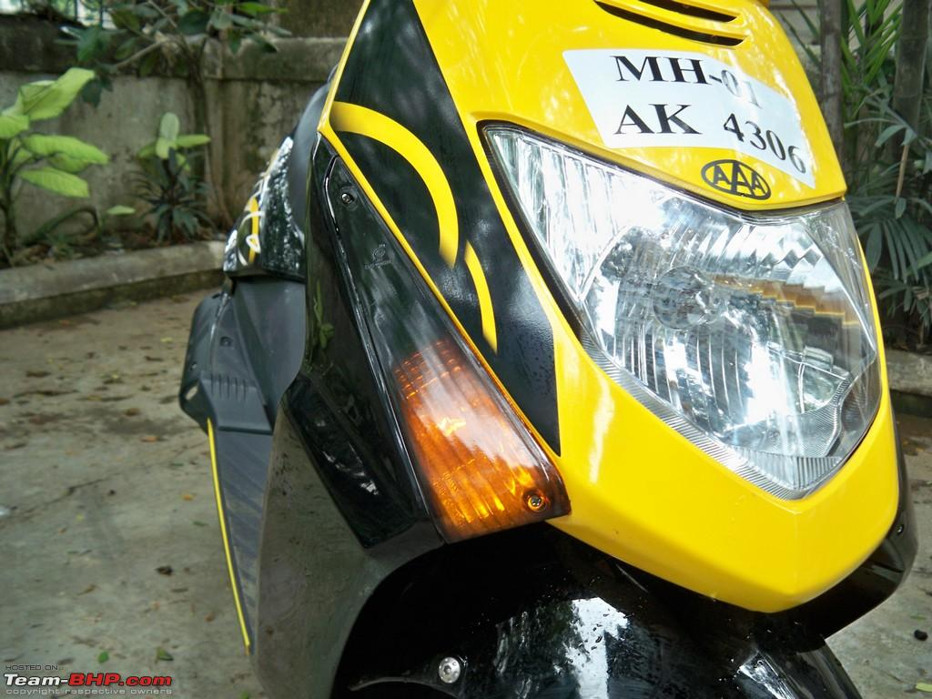 Bike stickers design honda dio - My Honda Dio My Very Own Bumblebee Now With Carbon Fiber