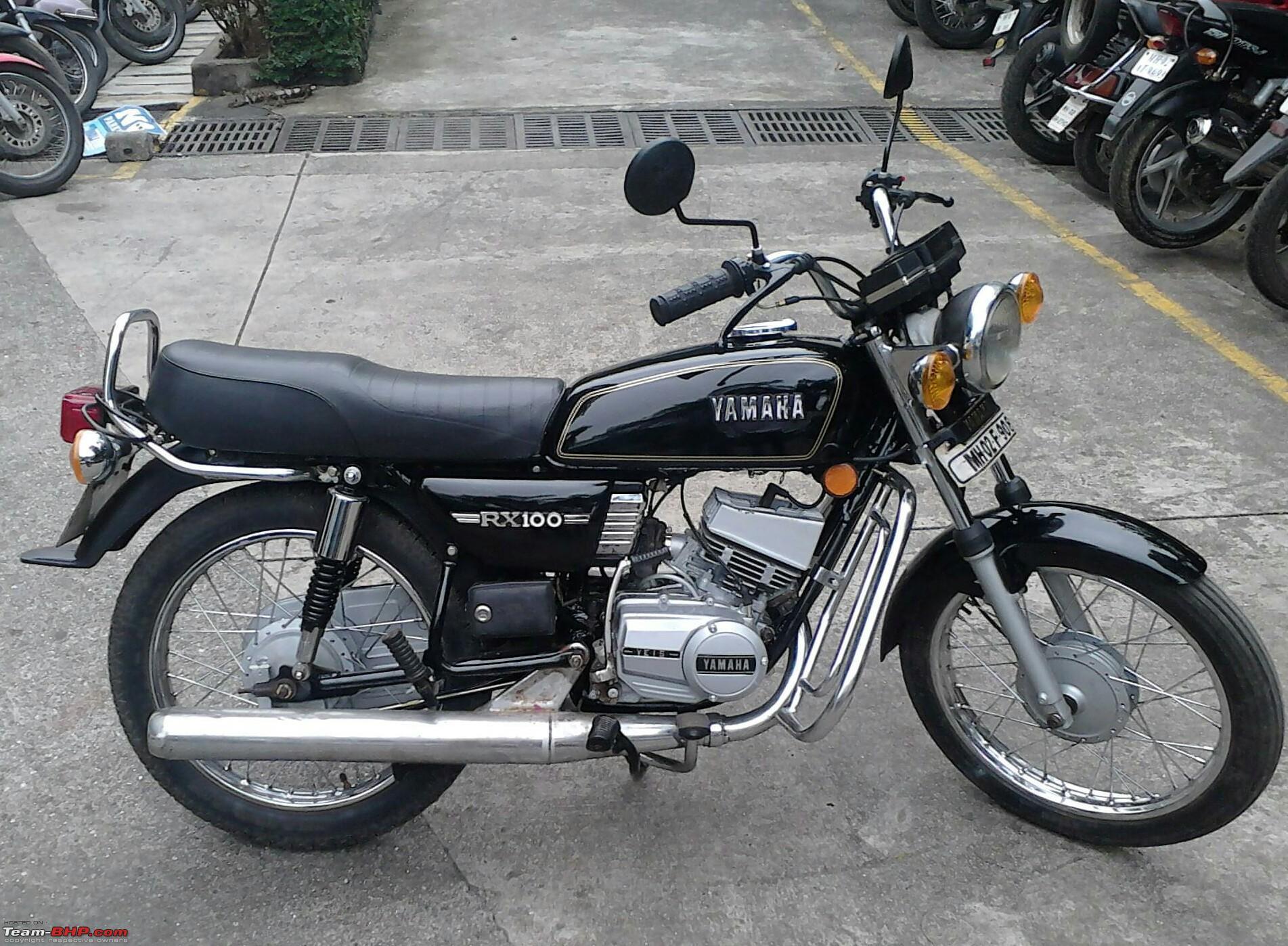 yamaha rx100 retro modern modifications alloys disc