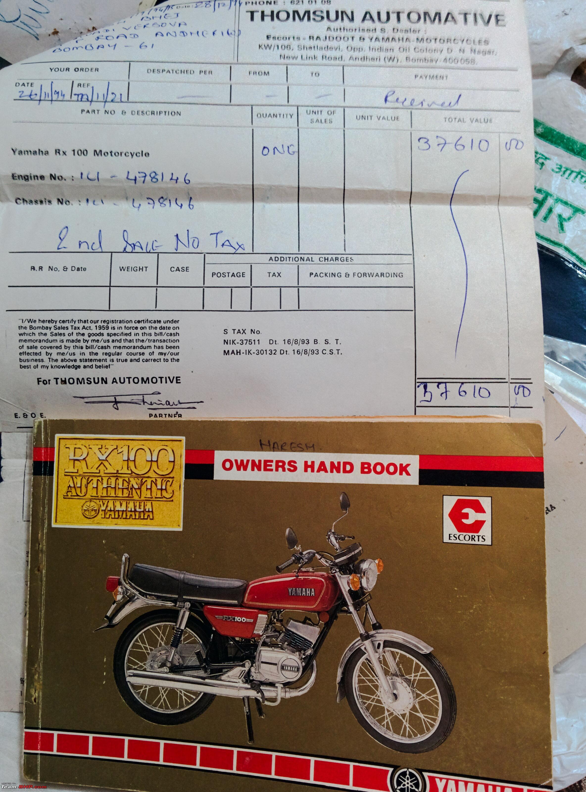 Yamaha RX100: Retro-Modern modifications (alloys, disc brake