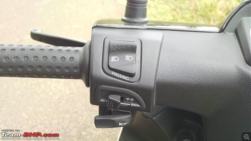 Aprilia SR 150 unveiled at the Auto Expo. EDIT: Priced at Rs. 65,000-apriliasr150switch.jpg