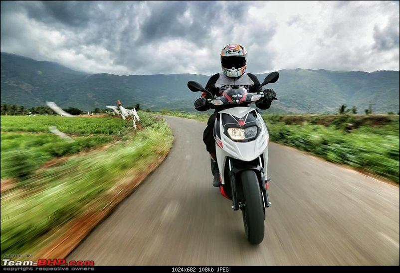 Aprilia SR 150 unveiled at the Auto Expo. EDIT: Priced at Rs. 65,000-3.jpg