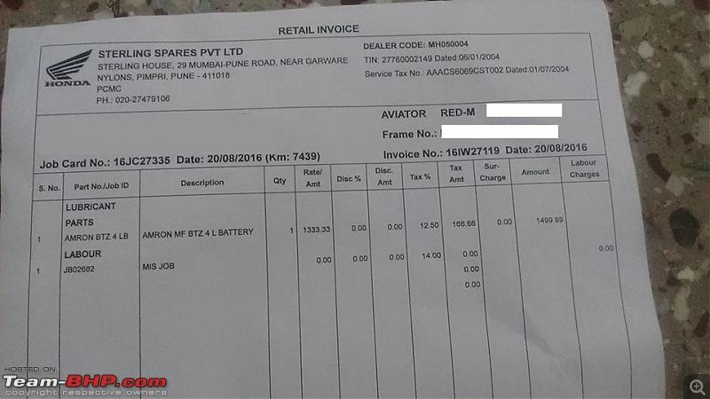 V.L. Motors, Santacruz (Honda 2-wheeler service centre) caught overcharging!-img2.jpg