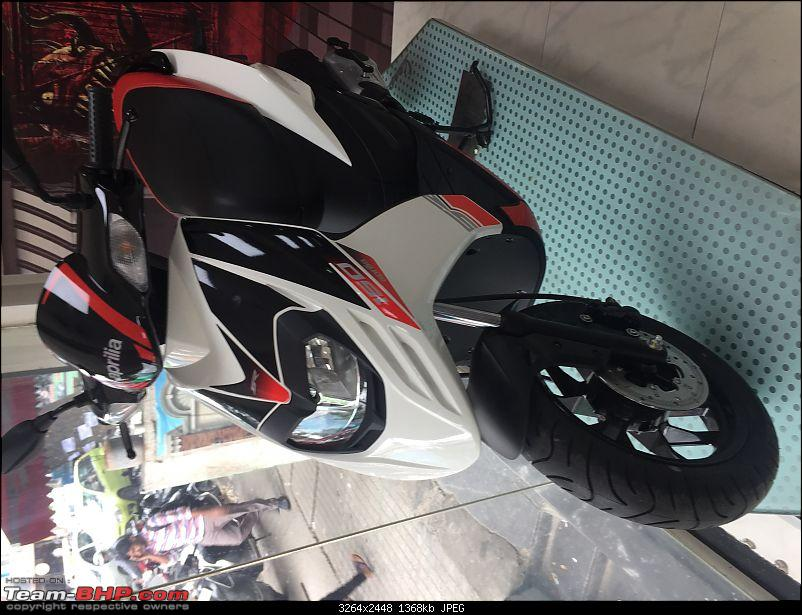 Aprilia SR 150 unveiled at the Auto Expo. EDIT: Priced at Rs. 65,000-aprilia-white.jpeg