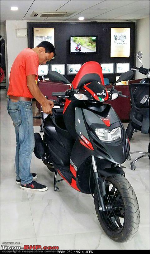 Aprilia SR 150 unveiled at the Auto Expo. EDIT: Priced at Rs. 65,000-motoscoot.jpeg