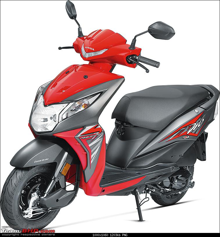 2017 Honda Dio leaked: The Motoscoot gets snazzier-frontred.png