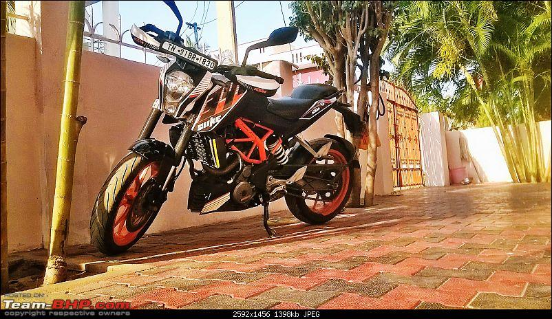 Rs. 2273 per BHP! Prassy's pre-worshipped KTM Duke 390-homepic.jpg
