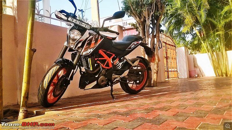 Rs. 2273 per BHP! Prassy's pre-worshipped KTM Duke 390-homepic.jpg