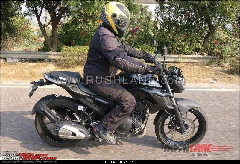 Yamaha Fazer 25 spotted testing. EDIT: Launched at Rs. 1.29 lakhs-yamahafz25spiedindialaunch12960x640.jpg