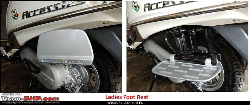 My Milky Bar: All-New Suzuki Access 125 Special Edition. EDIT: 5000 km completed-ladies-footrest-fitted.jpg