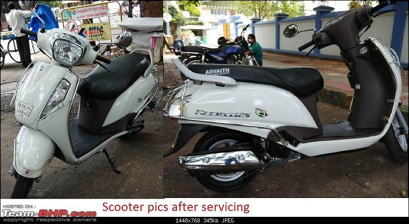 My Milky Bar: All-New Suzuki Access 125 Special Edition-scooter-pics-after-servicing.jpg