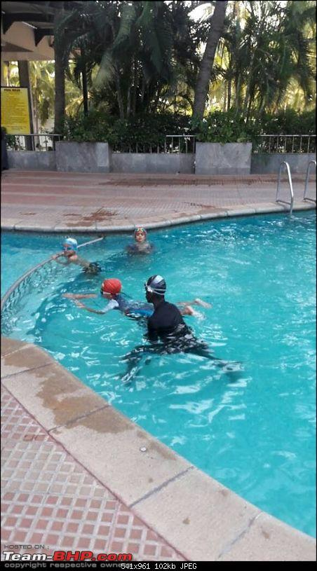 Building a 'Pocket Bike' out of a TVS Scooty ES-swimming.jpg