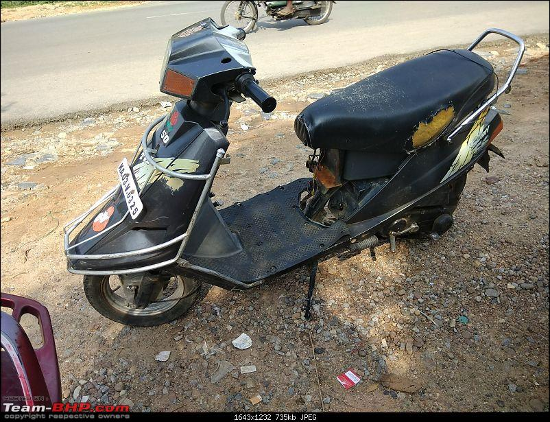 Building a 'Pocket Bike' out of a TVS Scooty ES-20may-3pm.jpg