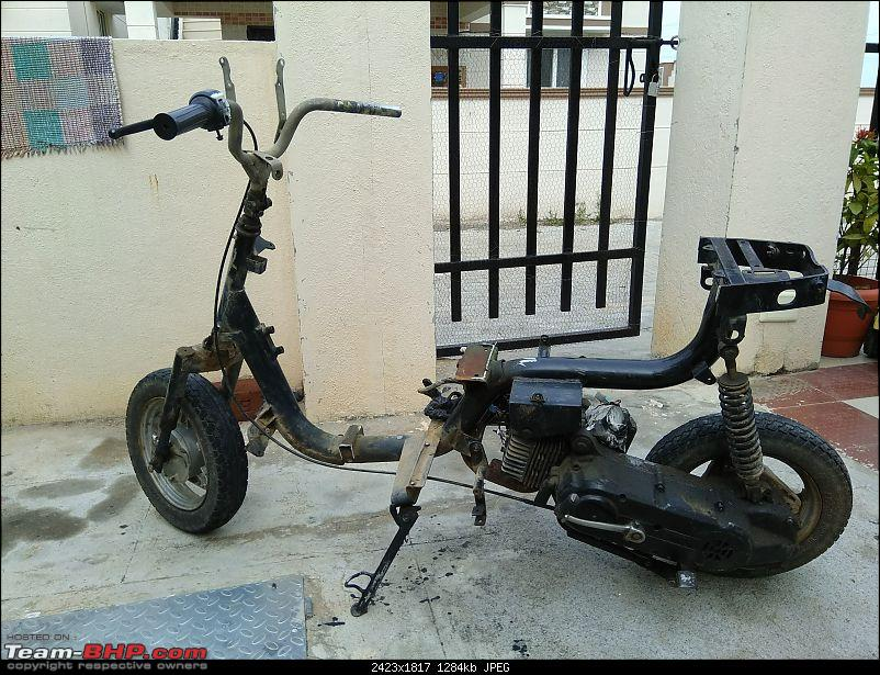 Building a 'Pocket Bike' out of a TVS Scooty ES-21may-2pm.jpg