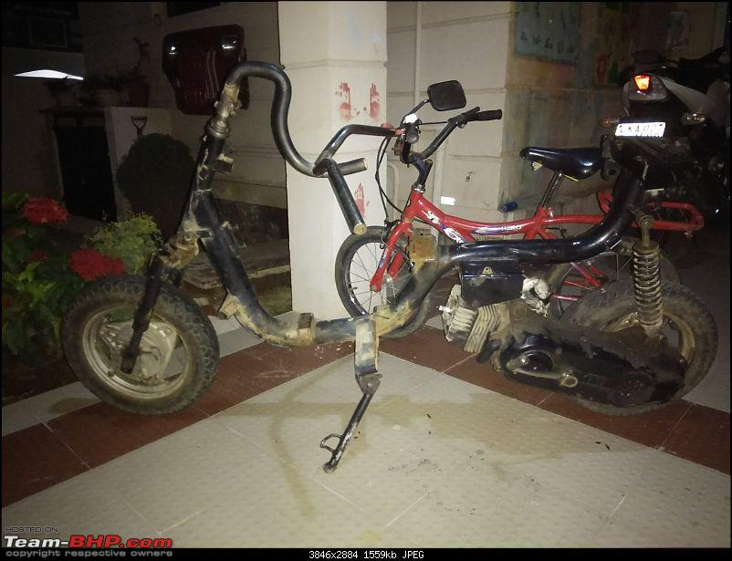 Building a 'Pocket Bike' out of a TVS Scooty ES-22-may-8pm.jpg
