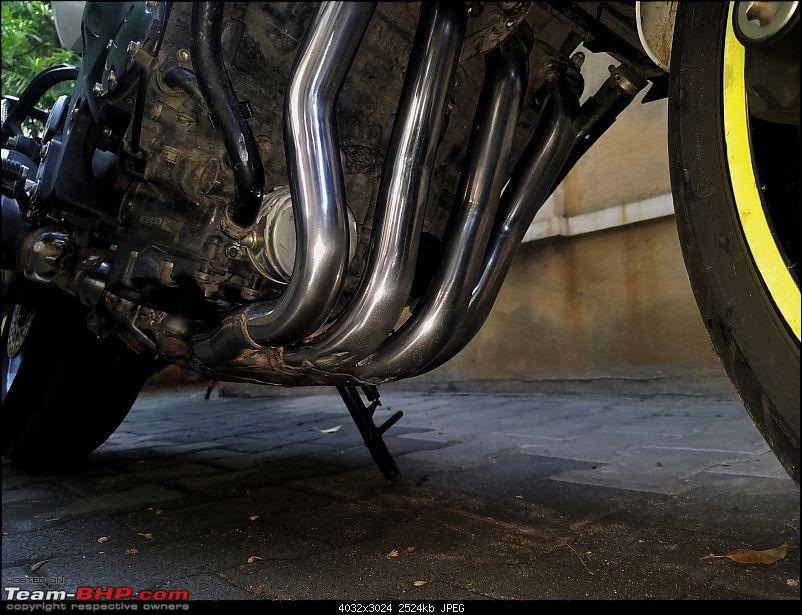 DIY: Cleaning the Headers & Exhaust Pipes of a motorcycle