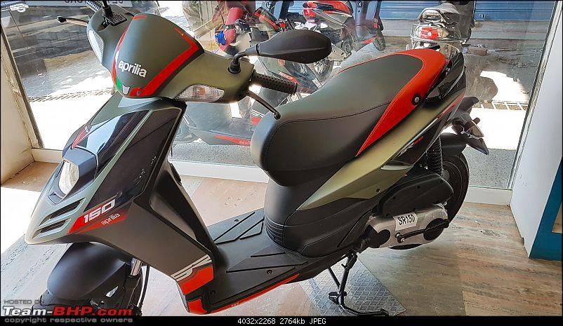 Aprilia SR 150 unveiled at the Auto Expo. EDIT: Priced at Rs. 65,000-20171229_115837.jpg
