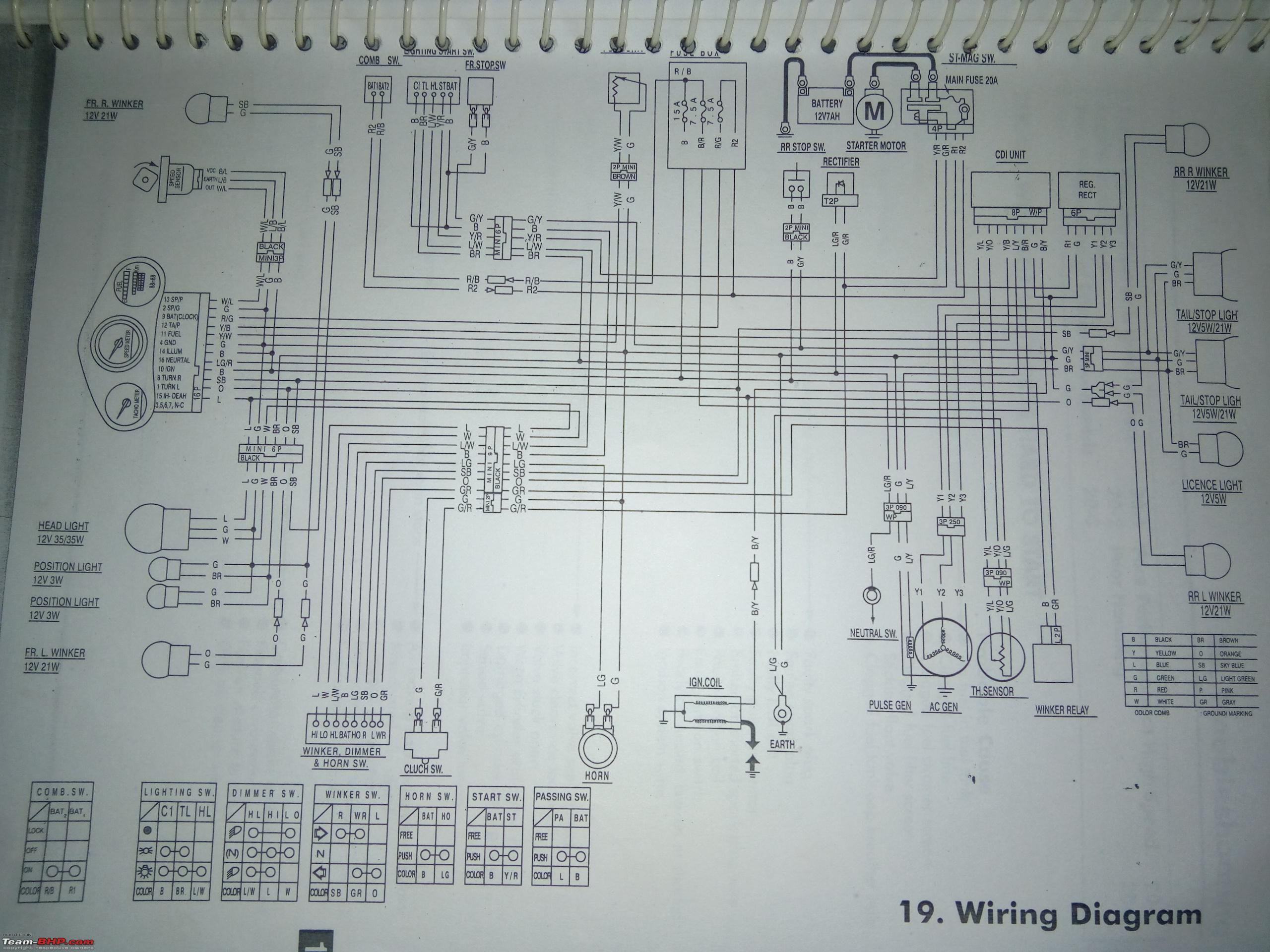 Wiring Diagram Of Karizma R : Wiring diagrams of indian two wheelers page team bhp