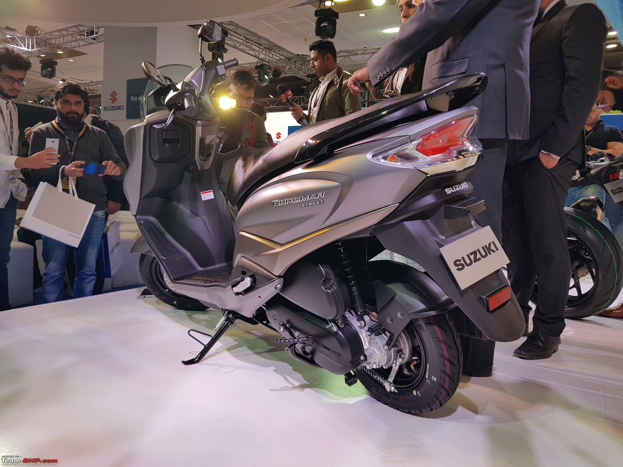 The Suzuki Burgman Street Now Launched At Rs 68 000 Team Bhp