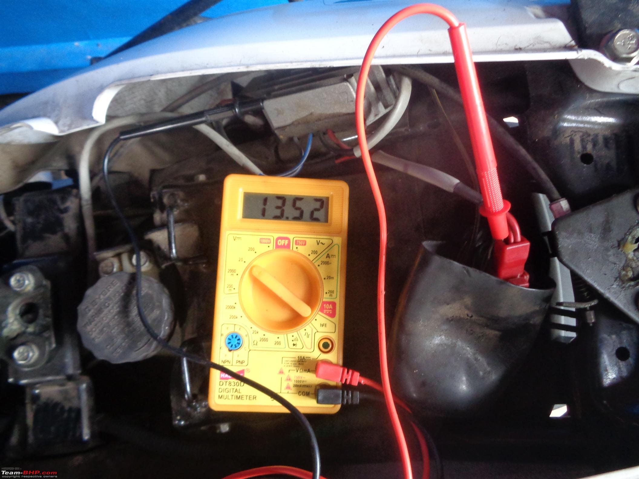 Understanding Troubleshooting Motorcycle Charging Systems Team Bhp Voltmeter Wiring Diagram System In Dsc00327