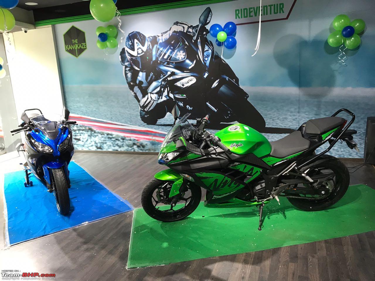 A Close Look The 2019 Kawasaki Ninja 300 Abs Team Bhp