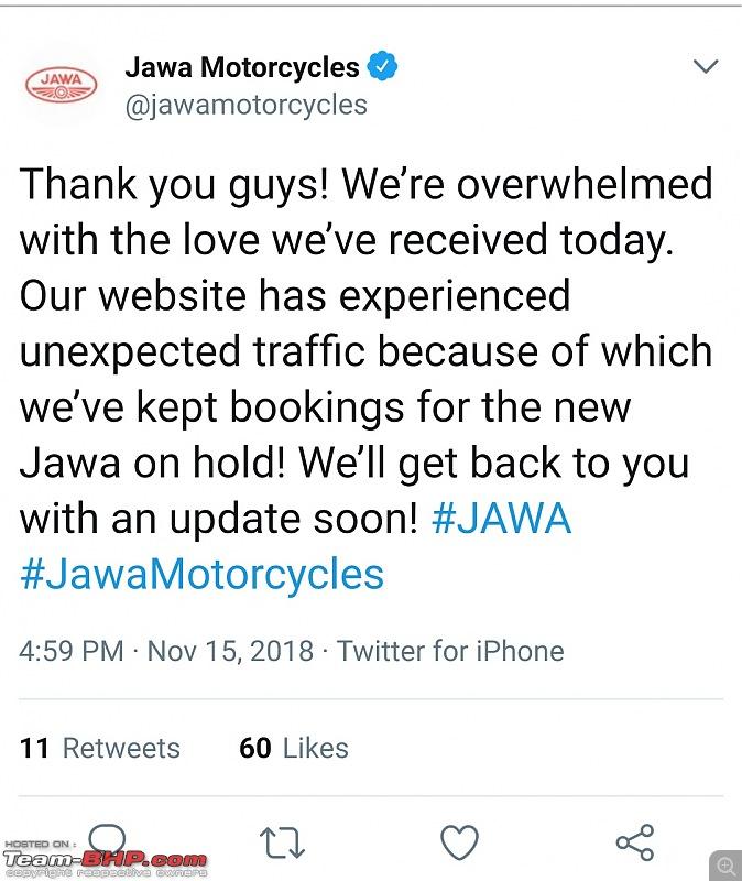 Mahindra is bringing Jawa back. EDIT: Launched @ Rs 1.55 lakh-jawa_twitter_bookings.jpg