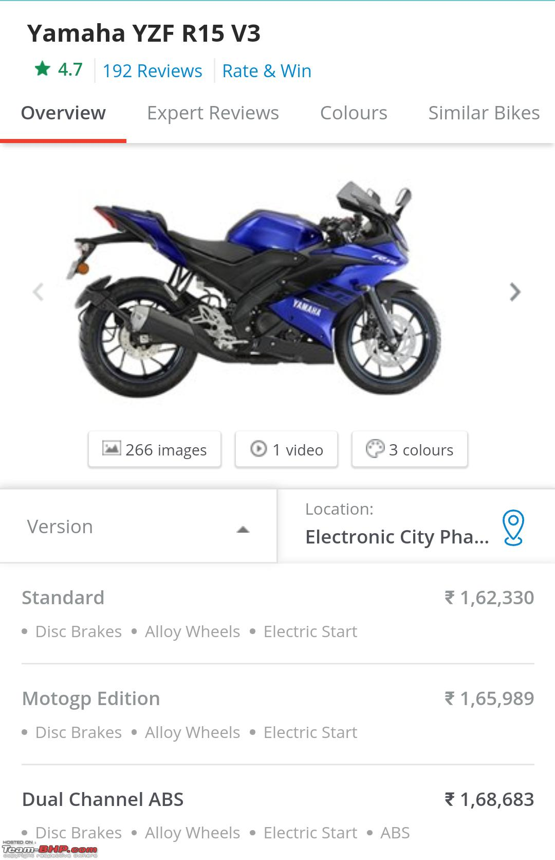 Yamaha YZF-R15 V3 0 with dual-channel ABS launched at Rs