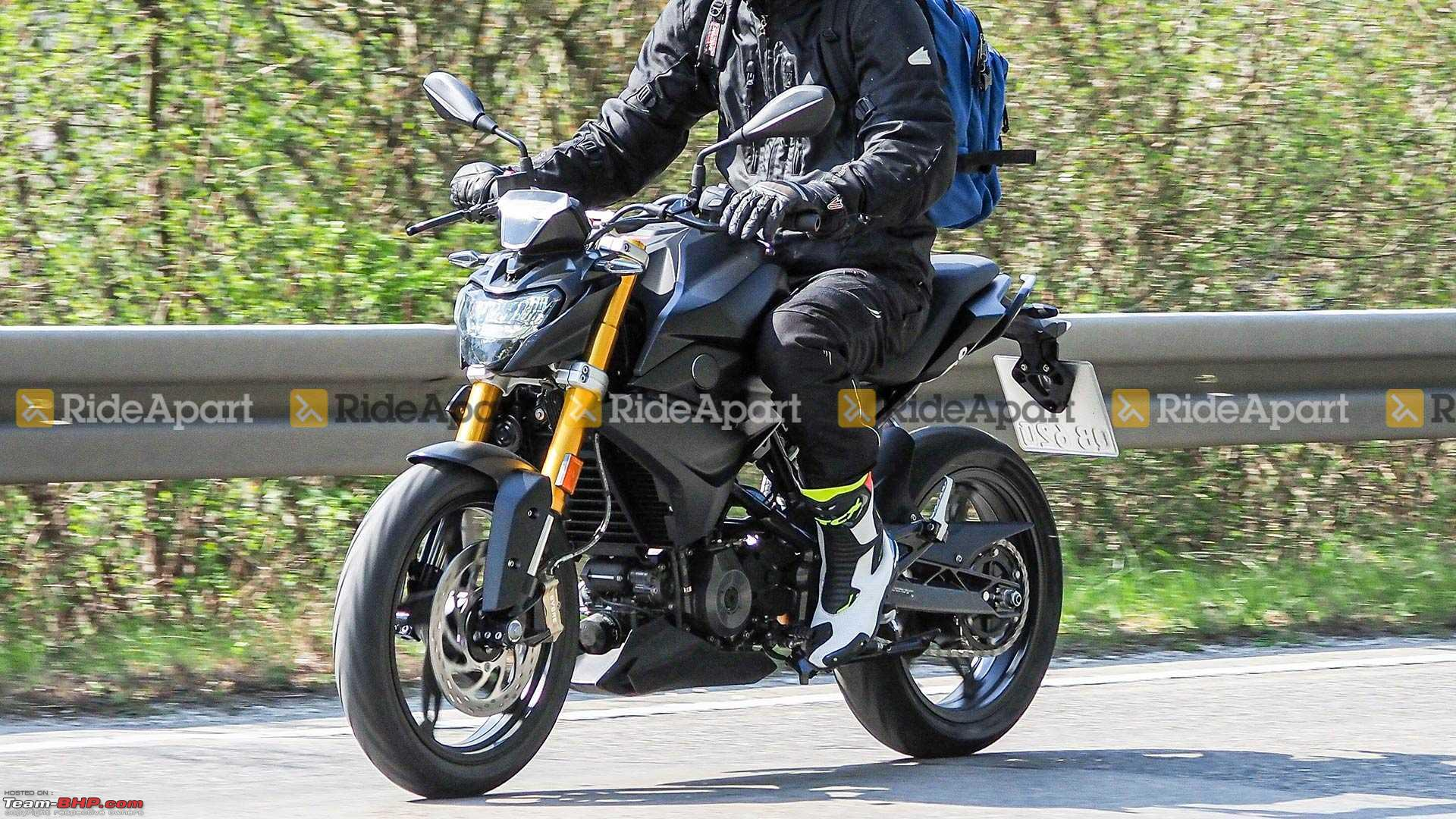 spied testing  2020 bmw g310r and 310gs facelift