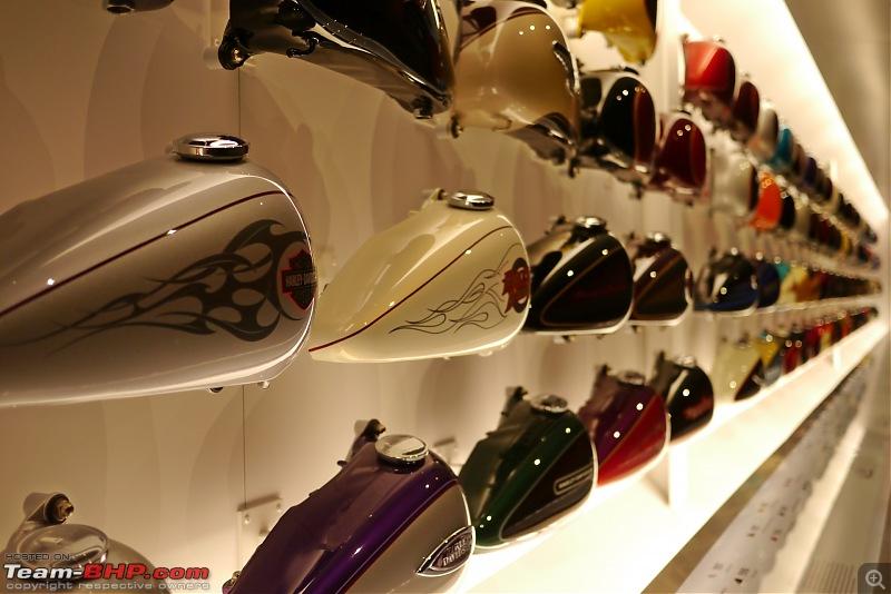The Harley Davidson Museum - Milwaukee, Wisconsin-tank-wall015.jpg