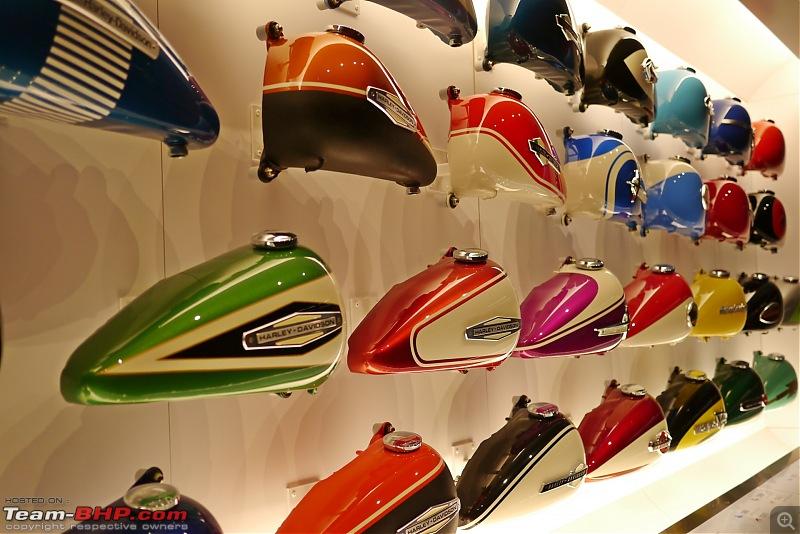 The Harley Davidson Museum - Milwaukee, Wisconsin-tank-wall017.jpg