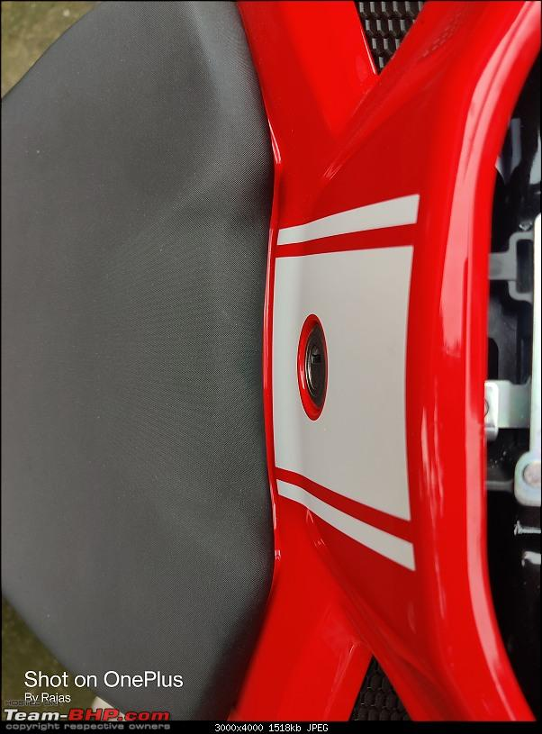 Lola is home - My TVS Apache RR310 BS6 ownership review-seat_issue.jpg