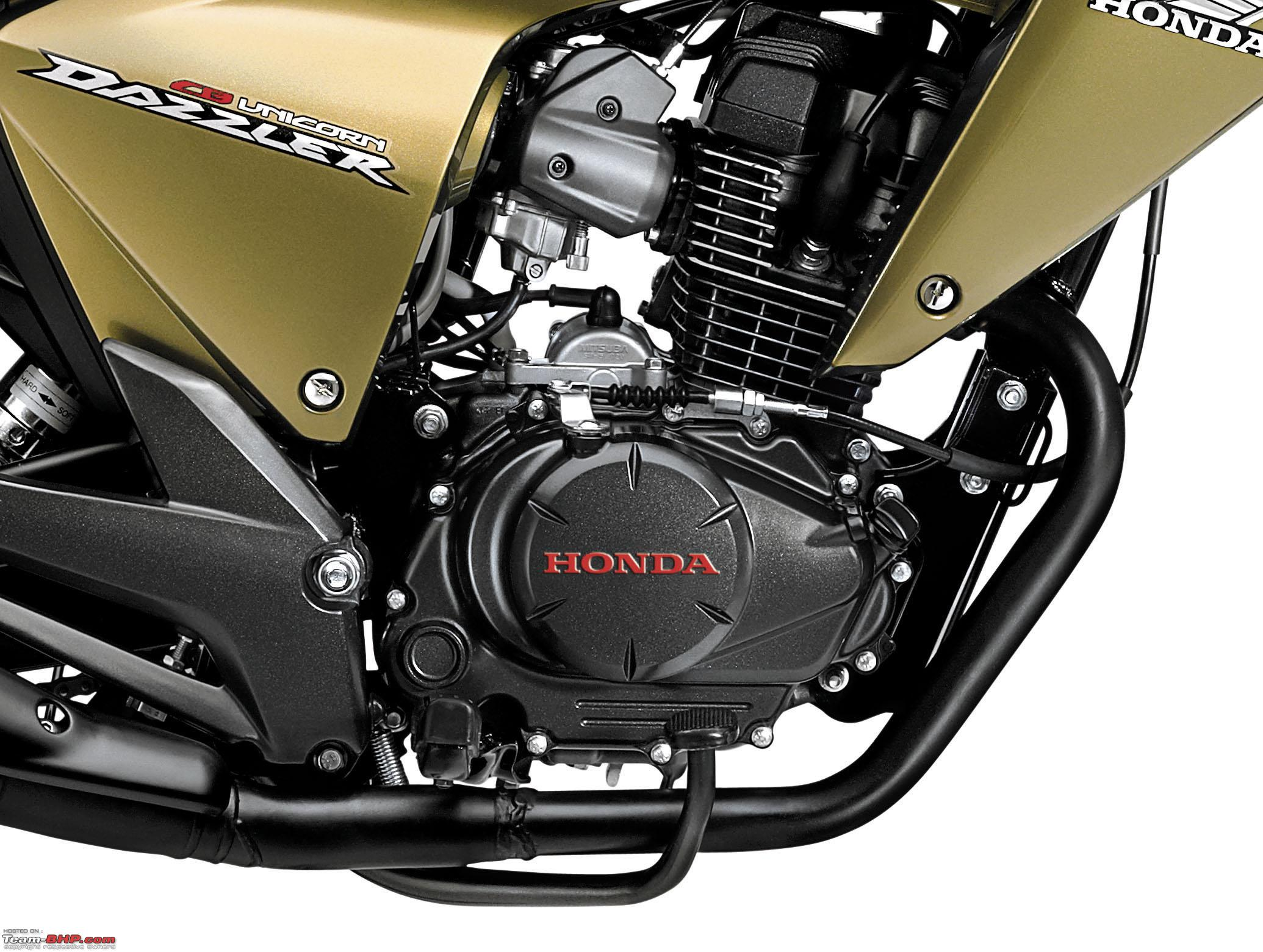 Honda cb unicorn dazzler first showroom spy pics and details 150cc engine