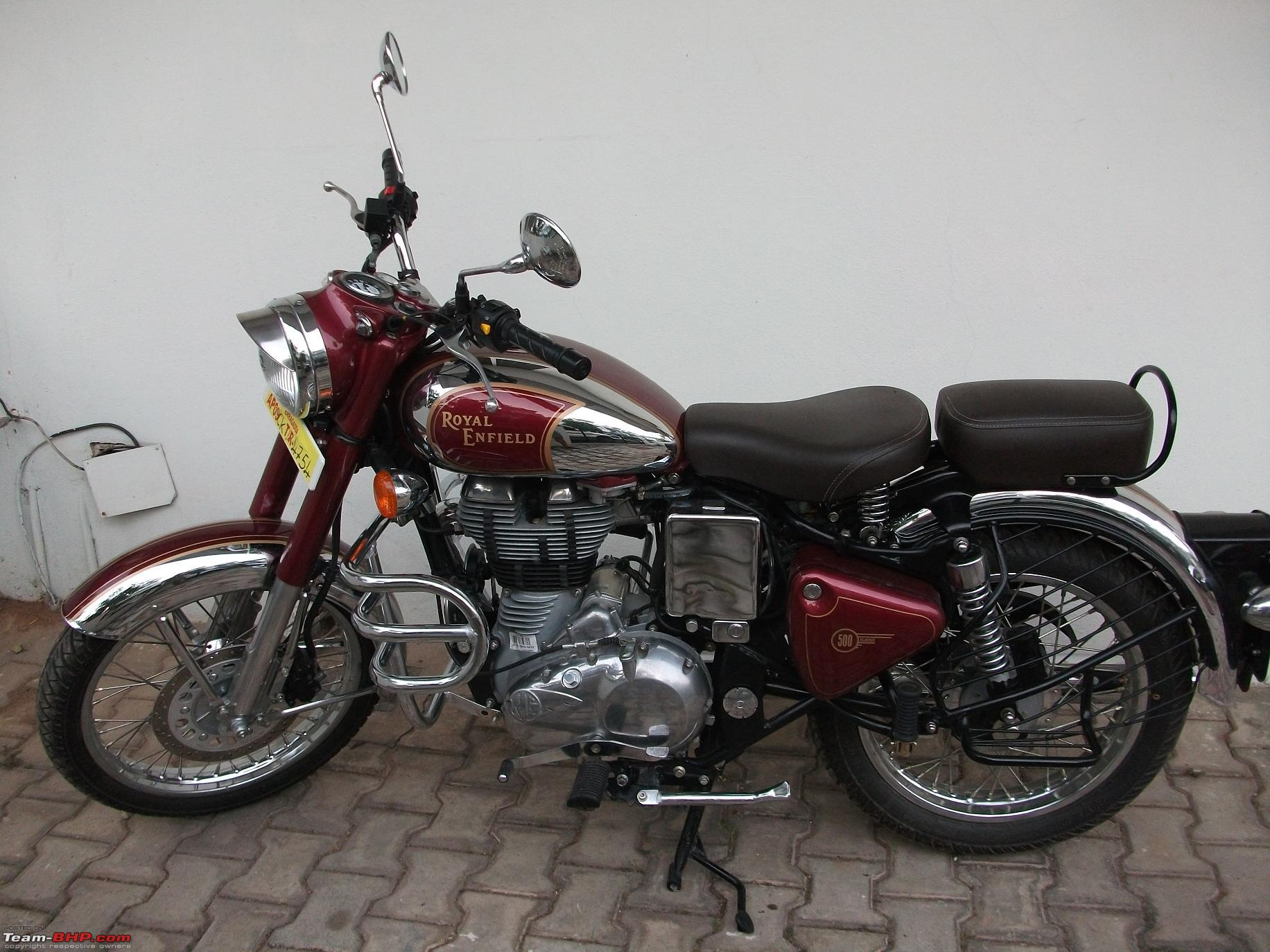 King Of The Roads Royal Enfield Classic Chrome Team Bhp