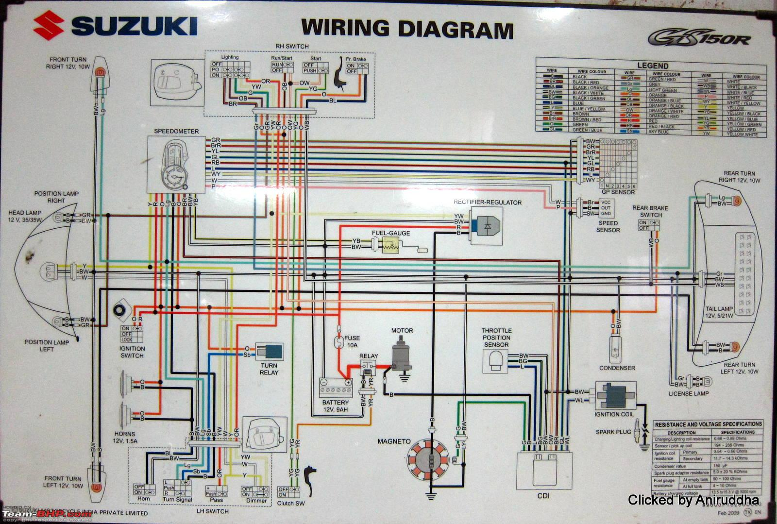 wiring diagrams of indian two wheelers team bhp rh team bhp com Radio Wiring Diagram Suzuki Suzuki Dr 250 Wiring Diagram