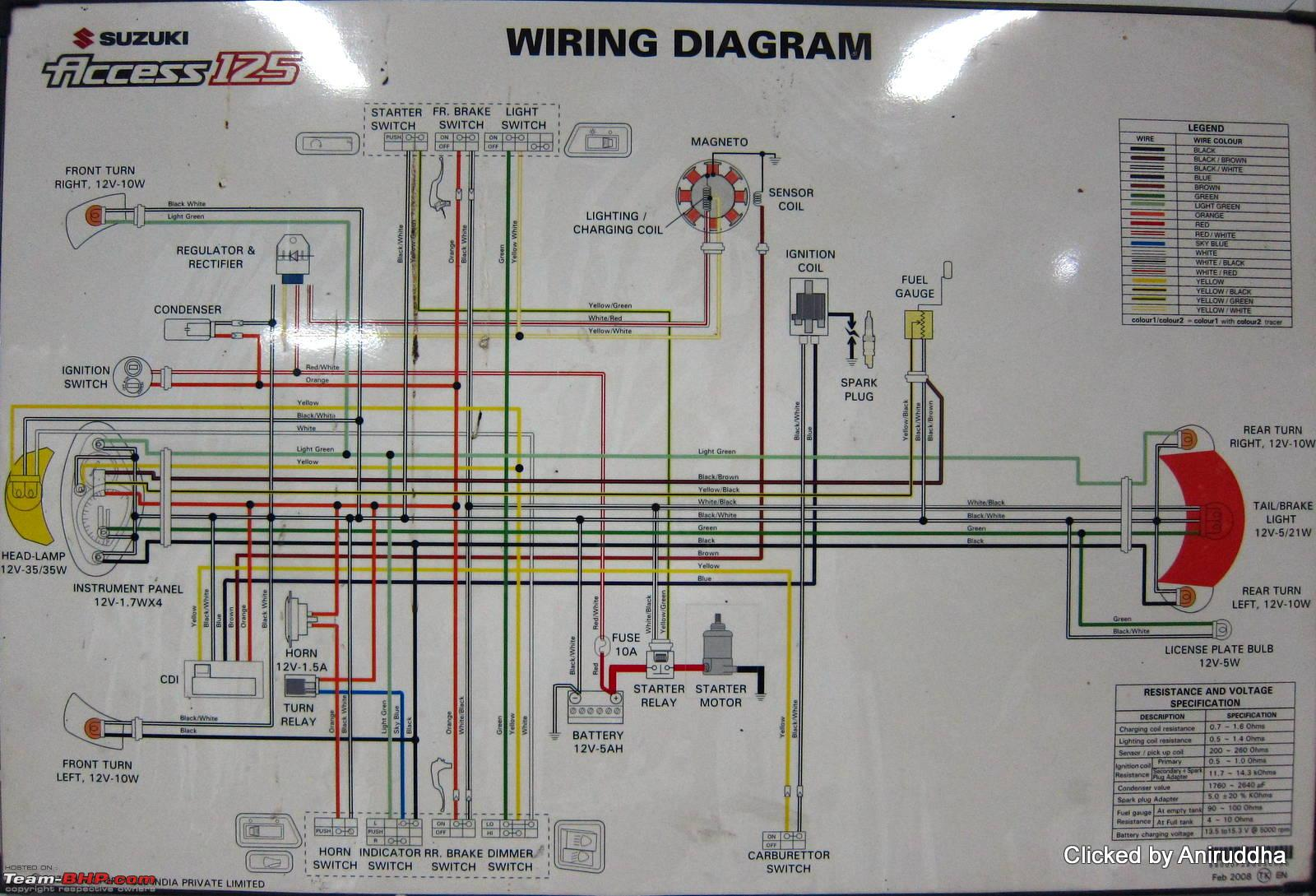 suzuki access wiring diagram suzuki wiring diagrams online circuit diagrams of n motorcycles and scooters team bhp