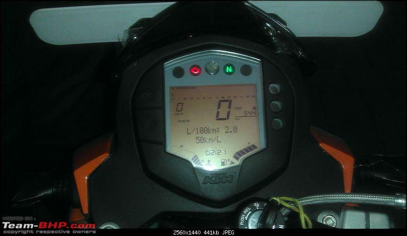 The Duke Finally arrives! (KTM Duke 200)-mileage.jpg